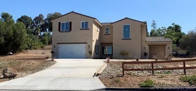 Escondido CA Single Family Home For Sale: $825,000