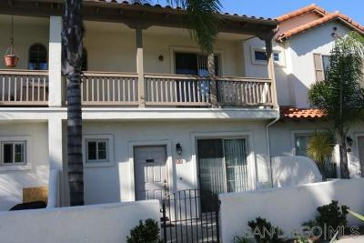 Oceanside Townhouse For Sale: 1454 Rancho Rose Way #14