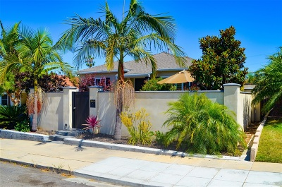 San Diego Single Family Home For Sale: 1911 Chatsworth Blvd