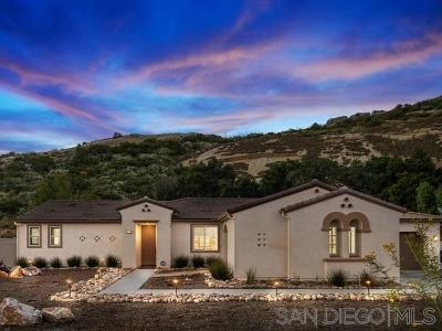 Valley Center CA Single Family Home For Sale: $749,000