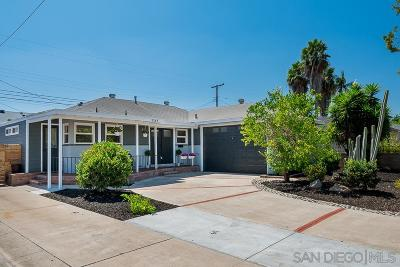 San Diego Single Family Home For Sale: 5349 Waring Rd.