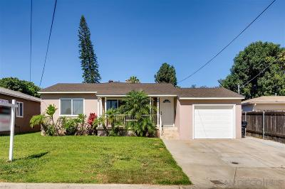 San Diego Single Family Home For Sale: 4624 Virginia Ave