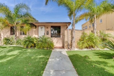 Pacific Beach Single Family Home For Sale: 3563 Promontory St