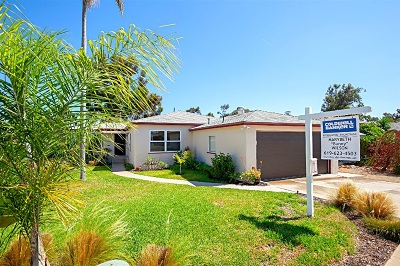 San Diego Single Family Home For Sale: 4536 Max Drive
