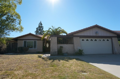 El Cajon Single Family Home For Sale: 2403 Valley Mill Rd