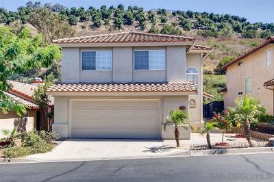 Escondido Single Family Home For Sale: 1846 Loreto Gln