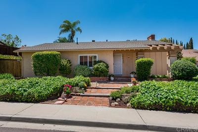 San Diego Single Family Home For Sale: 10433 La Morada Drive