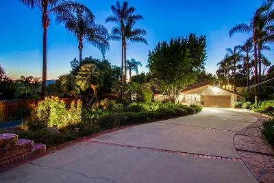 Escondido Single Family Home Back On Market: 2939 Via Loma Vista
