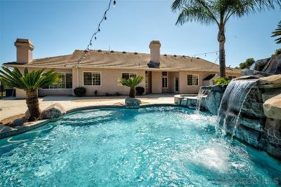 Escondido CA Single Family Home For Sale: $949,000