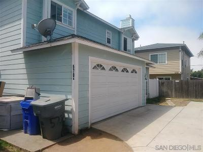 Imperial Beach Single Family Home For Sale: 570 Emory #A