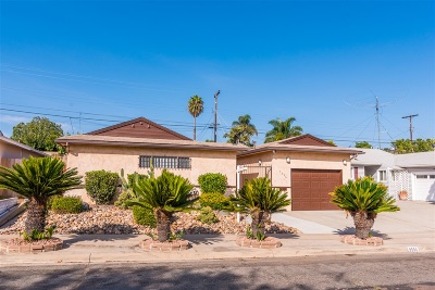 San Diego Single Family Home For Sale: 5556 Barclay Ave