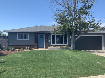 San Diego CA Single Family Home For Sale: $674,999