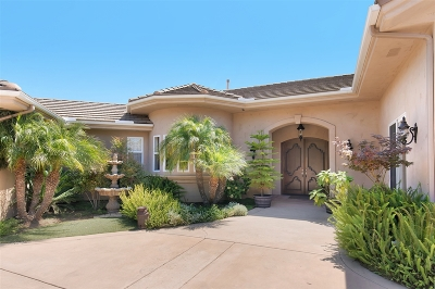 San Diego County Single Family Home For Sale: 5125 Olive Hill Trl