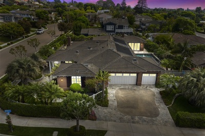 Solana Beach Single Family Home For Sale: 705 Midori Court