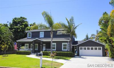 Oceanside Single Family Home For Sale: 2051 S Horne St