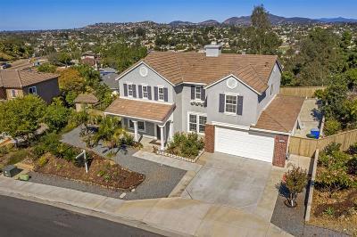 La Mesa Single Family Home For Sale: 7460 Eastridge