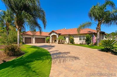 Escondido Single Family Home For Sale: 2070 Zlatibor Ranch Rd