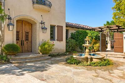San Diego Single Family Home For Sale: 7810 Sendero Angelica