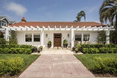 Coronado Single Family Home For Sale: 475 A Avenue