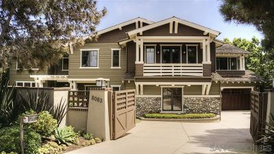 La Jolla Single Family Home For Sale: 8083 La Jolla Scenic Dr N