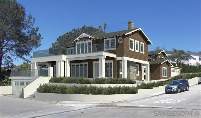 Del Mar Single Family Home For Sale: 605 Nob