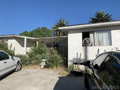San Diego Single Family Home For Sale: 1259 Klauber Ave #A