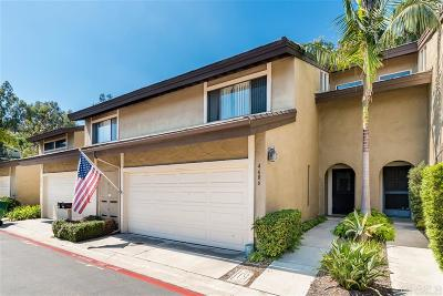Carlsbad Townhouse For Sale: 4606 Driftwood Cir