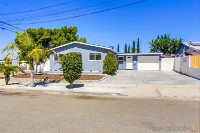 San Diego Single Family Home For Sale: 5202 Tara Pl