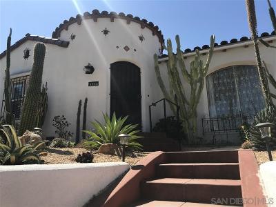 San Diego Single Family Home For Sale: 4353 N Talmadge Dr