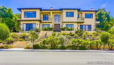 La Jolla Single Family Home For Sale: 1055 Muirlands Vista Way