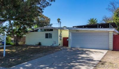 Chula Vista Single Family Home For Sale: 1064 Monserate Avenue