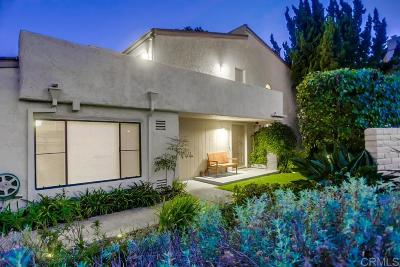 La Jolla Townhouse For Sale: 8806 Caminito Sueno