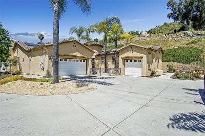 Escondido CA Single Family Home For Sale: $799,999
