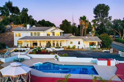 Escondido CA Single Family Home For Sale: $999,000