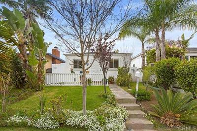 Pacific Beach Single Family Home For Sale: 1550 Reed Avenue