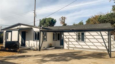 El Cajon Single Family Home For Sale: 187 E E Washington Ave
