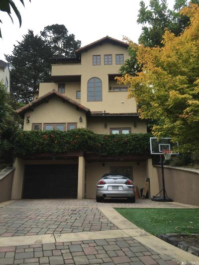 San Francisco County Single Family Home For Sale: 250 Santa Paula Ave