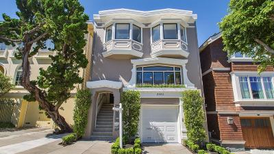 San Francisco County Single Family Home For Sale: 2850 Filbert St