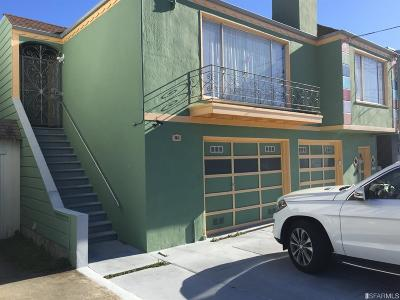 San Francisco County Single Family Home For Sale: 2470 35th Ave