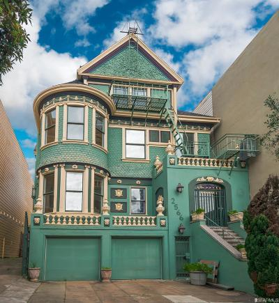 San Francisco County Single Family Home For Sale: 2566 Pine St