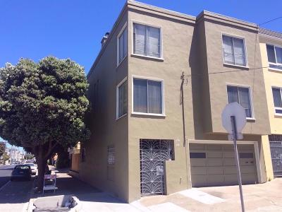 San Francisco County Multi Family Home For Sale: 194 196 Jules Ave