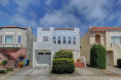 San Francisco County Single Family Home For Sale: 2168 17th Ave