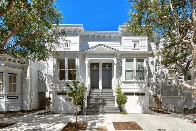 San Francisco County Multi Family Home For Sale: 1825 1825A Scott St