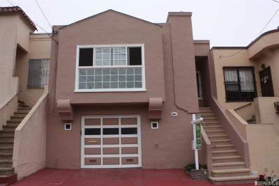 San Francisco County Single Family Home For Sale: 120 St Charles Ave