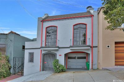 San Francisco County Single Family Home For Sale: 127 Baden St