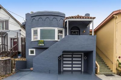 San Francisco County Single Family Home For Sale: 238 Thrift St