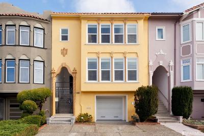 San Francisco County Single Family Home For Sale: 1986 18th Ave