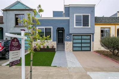 San Francisco County Single Family Home For Sale: 1963 33rd Ave