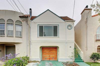 San Francisco County Single Family Home For Sale: 2450 30th Ave