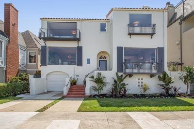 San Francisco County Single Family Home For Sale: 465 Marina Blvd